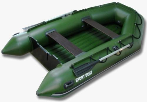 Inflatable powerboat with air-deck