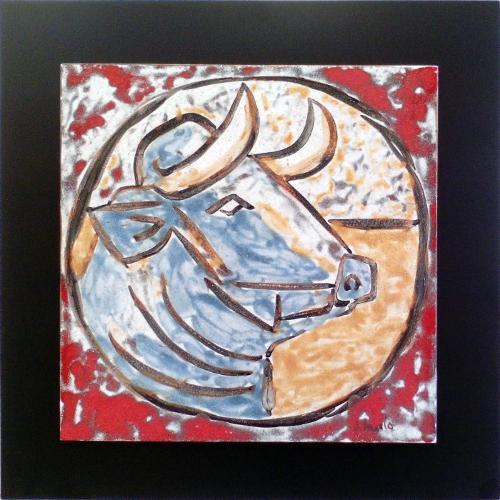 Cabeza de toro estilo Picasso