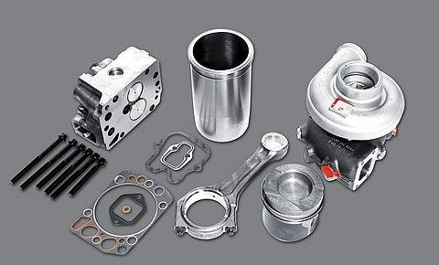 Components, spare and wear parts