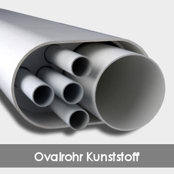 Ovalrohr aus PVC / Kunststoffovalrohr