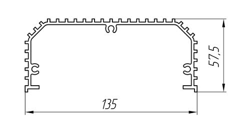 Aluminum Profile For Cooling Radiators Ат-1052