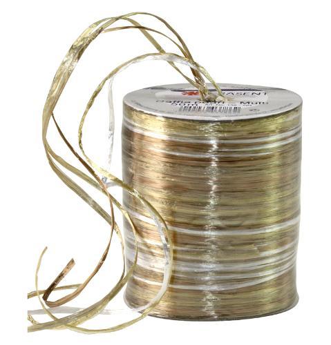 RAFFIA PEARL-Multicolour - metallic bast ribbon