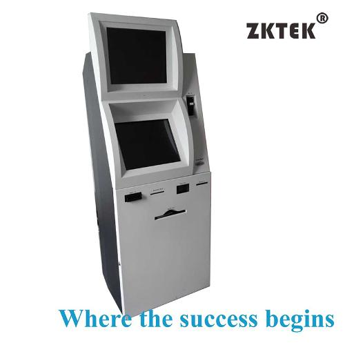 touchscreen banking kiosk with NFC card reader, EPP, bank cr