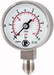 Standard pressure gauge, CrNi steel, G 1/4, 0 - 100 bar, 50