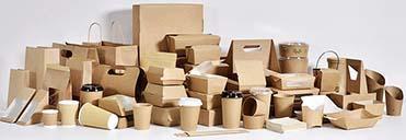 embalagens descartáveis e biodegradáveis