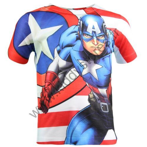 12x T-shirts Captain America du 2 au 8 ans