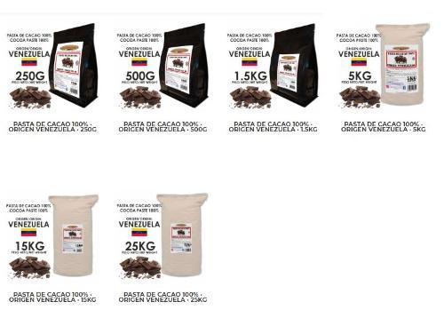 Pastas de Cacao Origenes - Tienda Online Shop