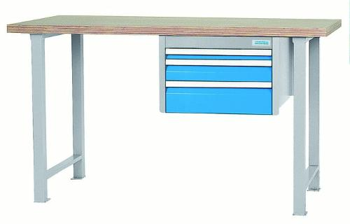 modular workbench with drawer block with 3 drawers