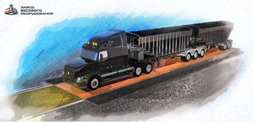 """Axle truck scales """"Hermes"""" VTA-DS 20 tons"""