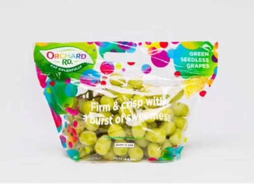 plastic pouch bags for table grapes with ziplock
