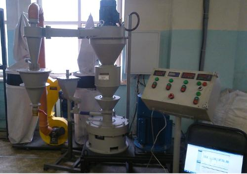 Multichannel jet-vortex mill MKM-400