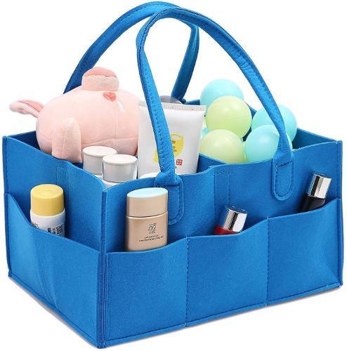 Baby Diaper Caddy Organizer - Nursery Storage Felt Basket