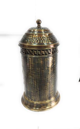 Poubelle Couverte Bronze Pour Salle De Bain En Laiton