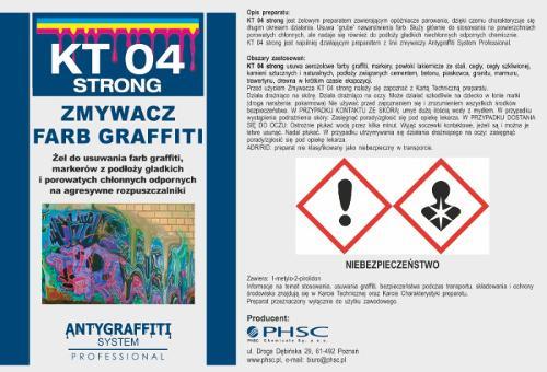 KT 04 Strong - Zmywacz farb graffiti