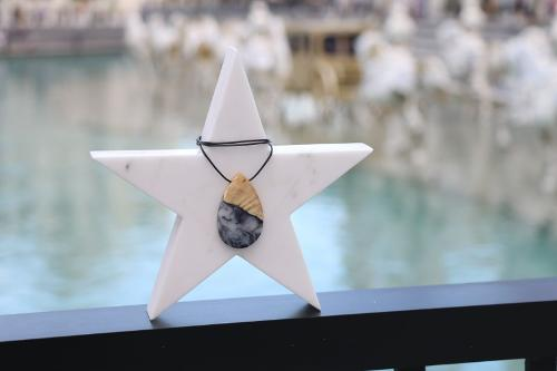 Volakas Marble Medium Star Object