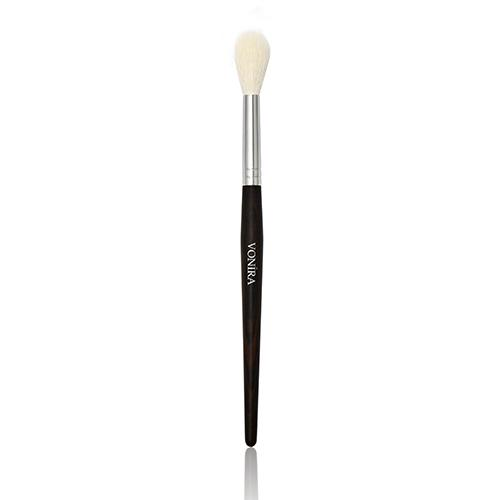 Large Round Pointed Makeup Blending Brush Natural Ebony Hand