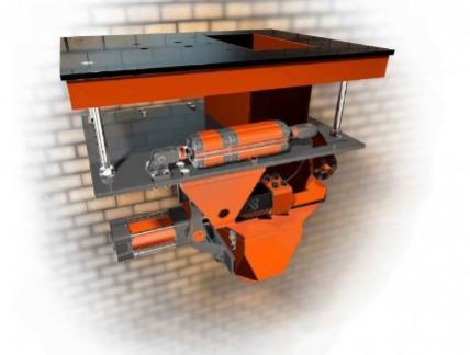 Dosatore pesatore a gravità per riempimento sacchi aperti