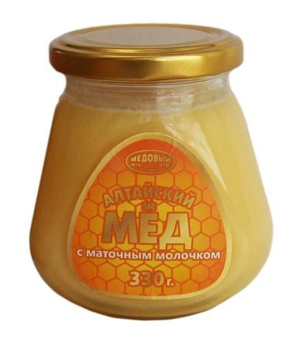 Мед натуральный Алтайский с маточным молочком
