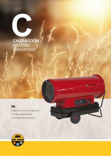 Calefacción portátil a gasóleo para espacios abiertos de 38
