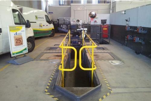 Valla automática de protección de fosos