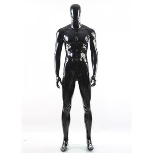 Mannequin de vitrine homme tête abstraite couleur noire