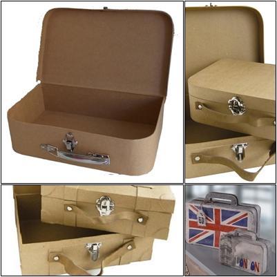 Valises carton-Boite carton brut à personnaliser
