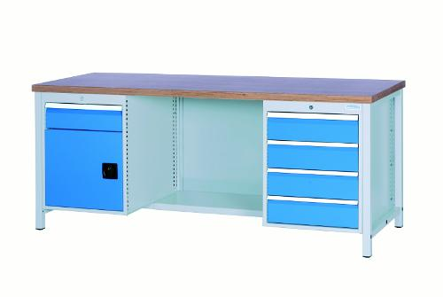 Workbench 2000 with 5 drawers and 1 hinged door