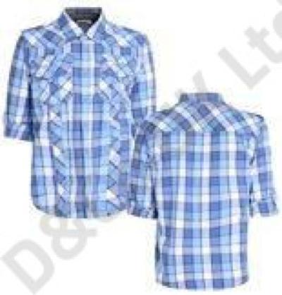 Chemise en coton à carreaux pour hommes