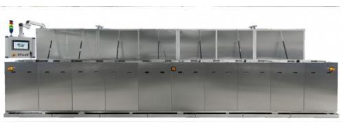 Inline continuous spray unit