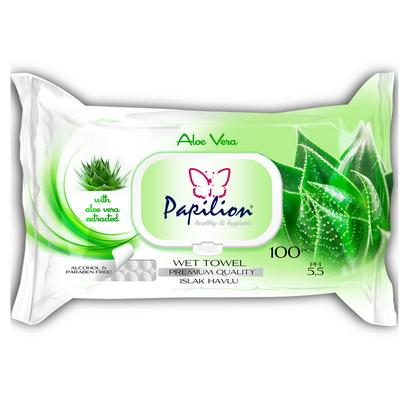 Papilion Aloe Vera Wet Wipes 100 pcs
