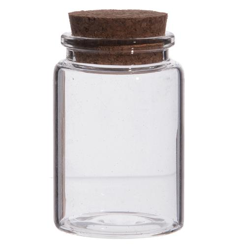 Jar in glass with cork