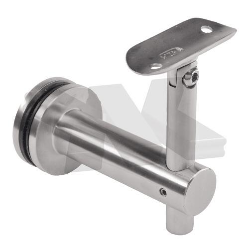Handrail bracket for glass installation, flexible, for 12-30 mm glass