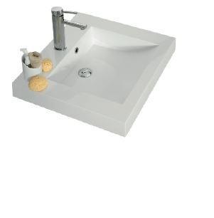 Plan vasque résine de synthèse cubique