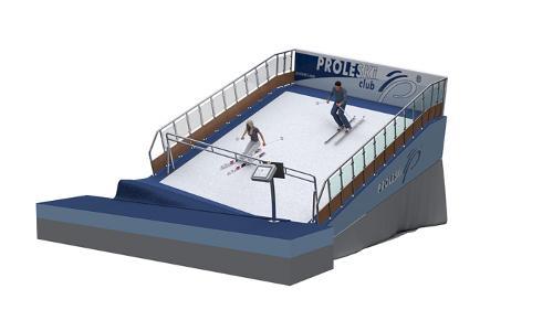 Proleski ski and snowboard simulator Indoor training