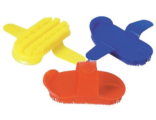 17.5×8.5cm plastic horse curry comb for grooming