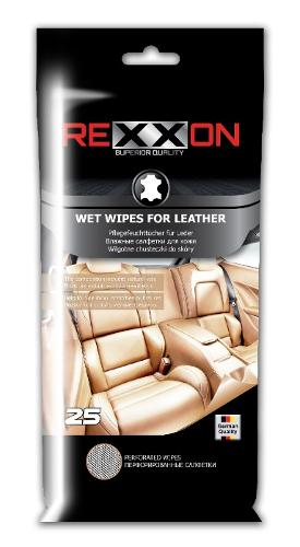 REXXON WET WIPES FOR LEATHER 25pcs