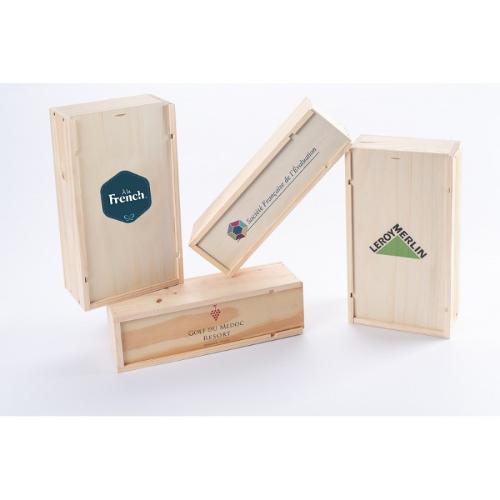 Coffrets en bois imprimés à votre logo