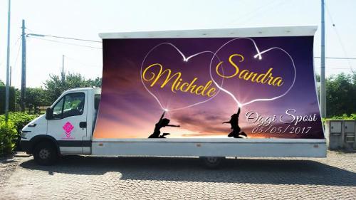 camion vela, banner aereo, palloni pubblicitari