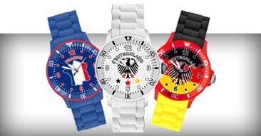 WM & EM Länder Silikon Uhren