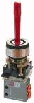 3/2-way mini valve, manual, Manual lever, NC...