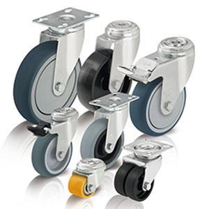 Rodas e rodízios para cargas leves