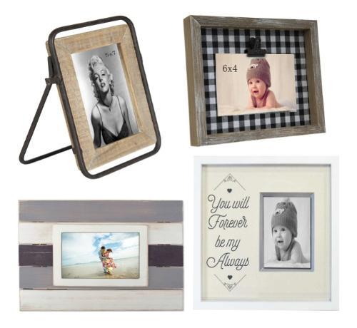 Vintage multi-color solid wood photo frame