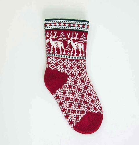 100% Wool Socks 'DEER'
