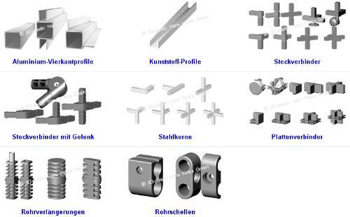 Steckverbinder und Profile, Connectors and profiles, Les con