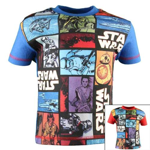 10x T-shirts Star Wars du 2 au 6 ans.