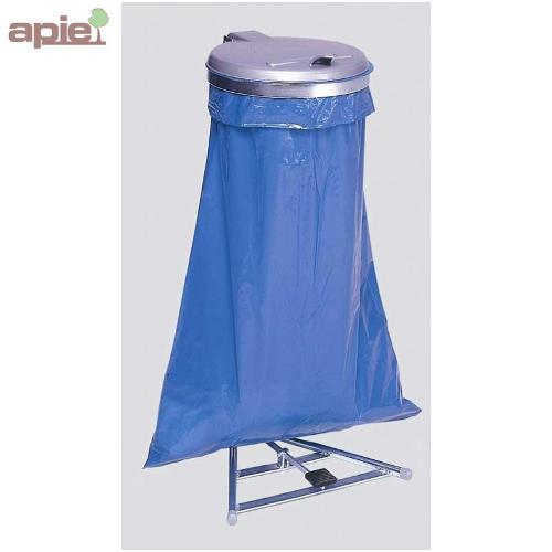 Support sac poubelle avec pédale + couvercle plastique