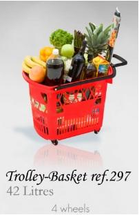 Trolley Basket - 42 Litres (4 wheels)