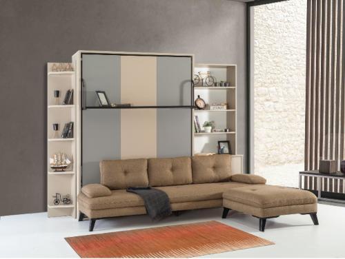 Armoire lit escamotable verticale XL 2 places