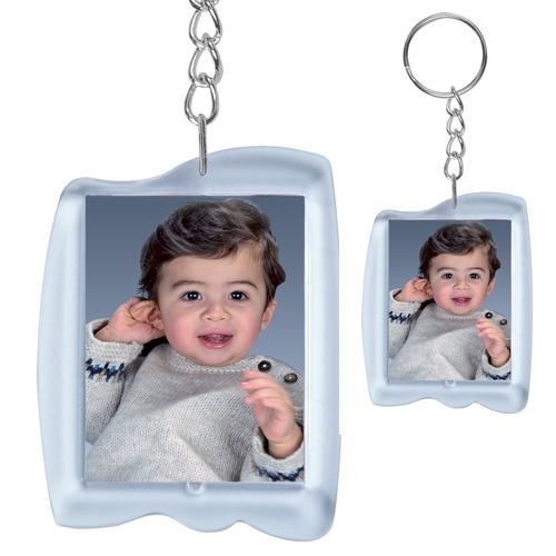 Foto- und Werbeschlüsselanhänger im Paßbildformat