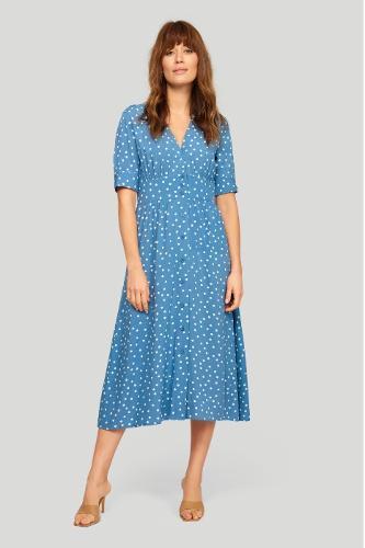 Stylowa sukienka z nadrukiem w groszki